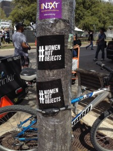Everything SXSW - lamp posts protected from extreme flyering, pedicabs, sunshine and a lounge