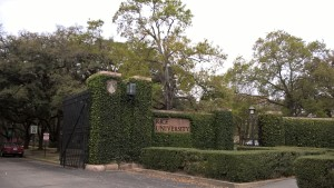 Photo of campus gate